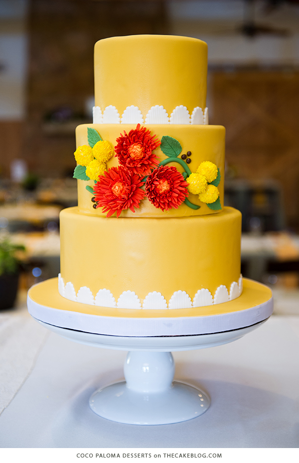 10 brilliant yellow cakes10 yellow wedding cakes including this design by coco paloma desserts on thecakeblog