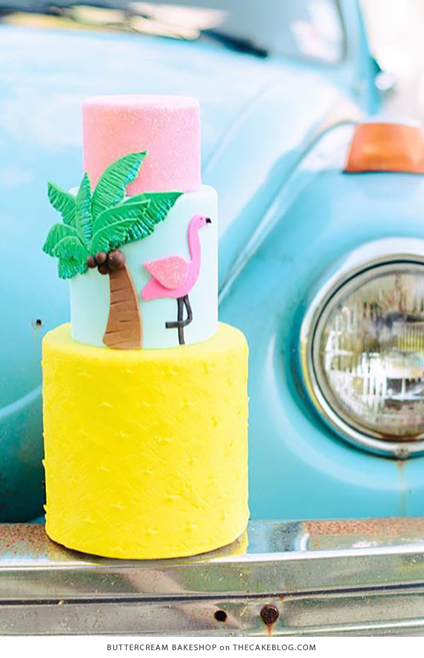 10 Yellow Wedding Cakes | including this design by Buttercream Bakeshop | on TheCakeBlog.com