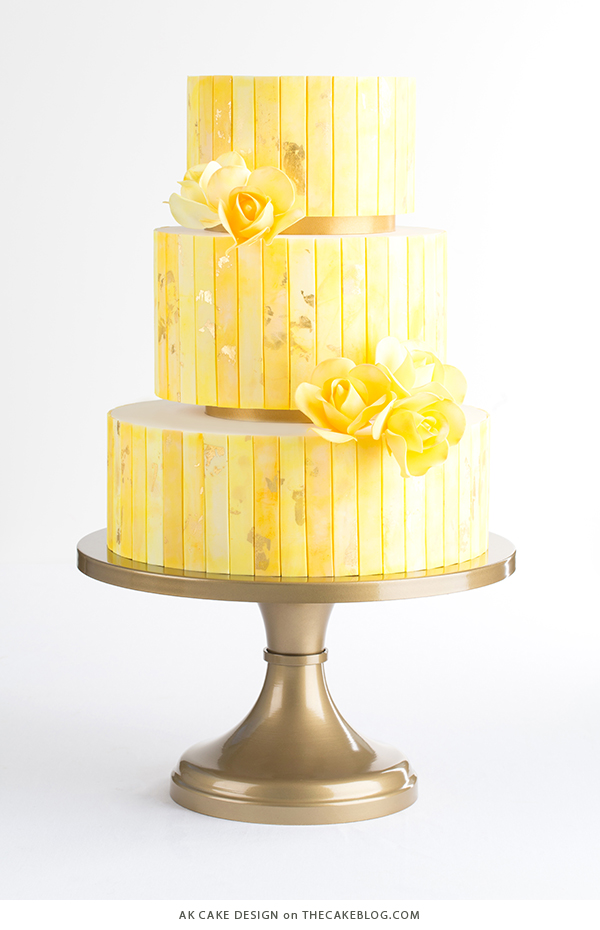 10 Yellow Wedding Cakes Including This Design By Ak Cake On Thecakeblog