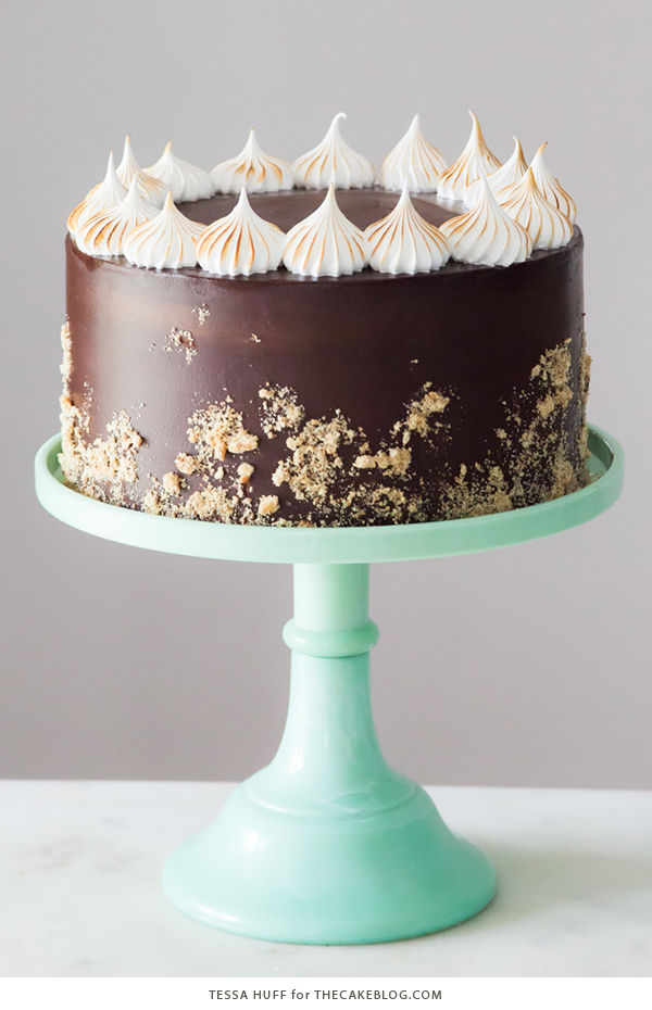 Chocolate Cake With Meringue Frosting
