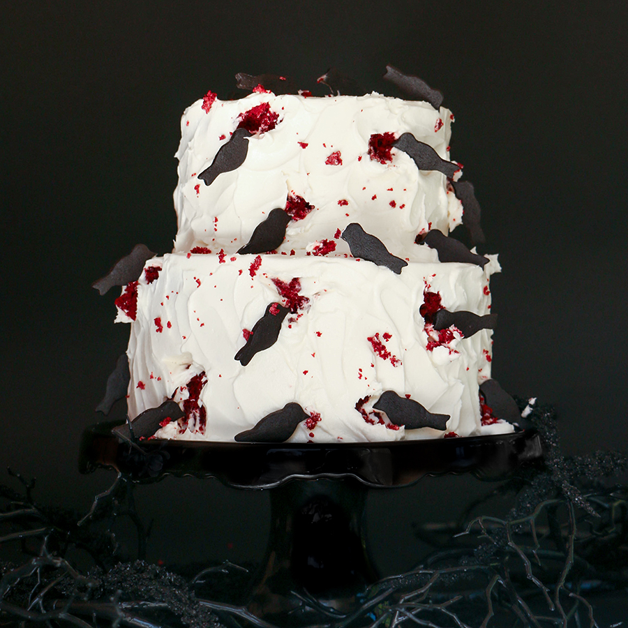 The birds halloween cake for Easy halloween cakes to make at home