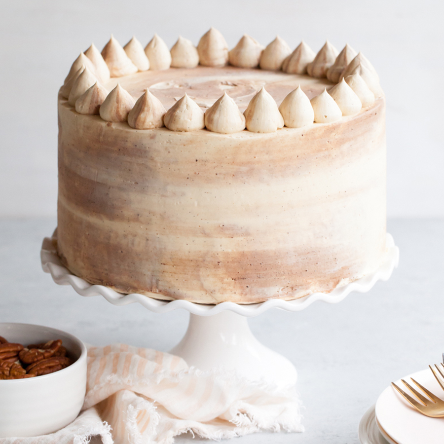 Chocolate Bourbon Pecan Cake