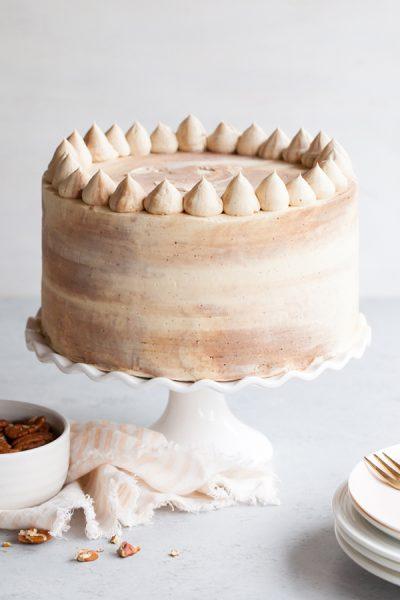 Chocolate Bourbon Pecan Cake