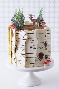 Birch Log Cakebirch Log Cake Learn How To Make This Wintry Birch Cake That Looks Just Like A Natural Birch Branch With A Simple Step By Step Tutorial By