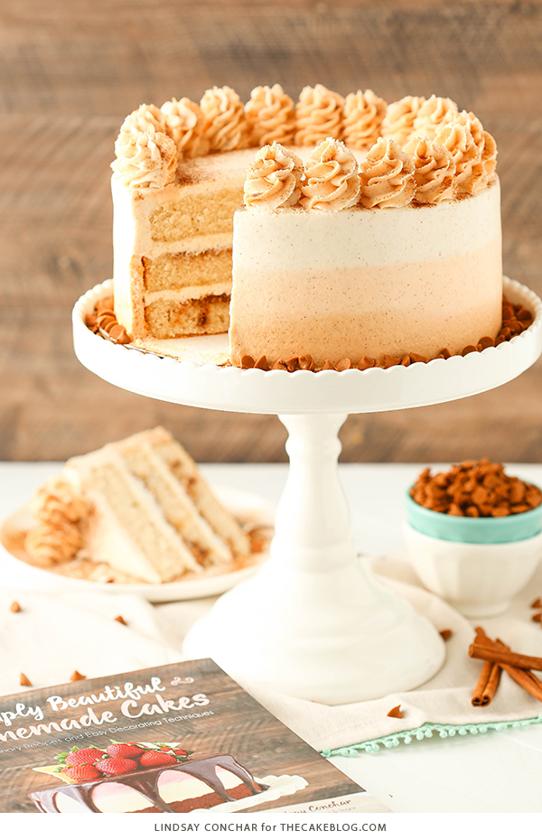 Cinnamon Roll Layer Cake | by Lindsay Conchar for TheCakeBlog.com