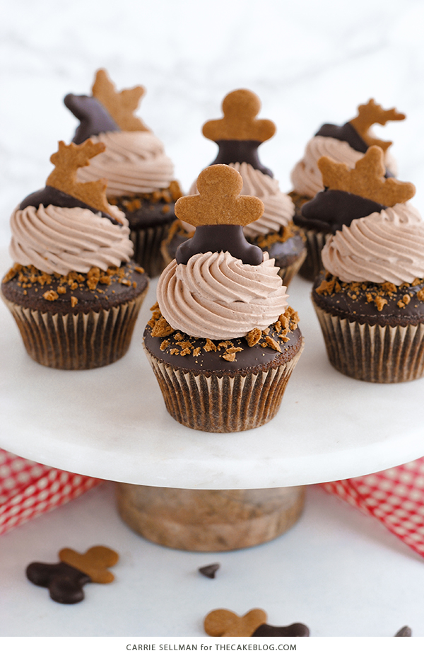 Chocolate Gingerbread Cupcakes   by Carrie Sellman for TheCakeBlog.com