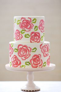DIY Celery Stamp Rose Cake | by Erin Gardner for TheCakeBlog.com