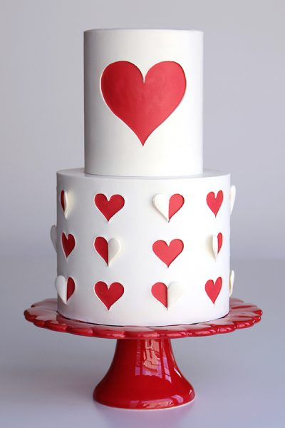 Heart Cut Out Cake