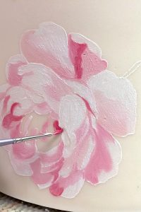 Stencil Painted Rose Cake | by Robin Martin for TheCakeBlog.com