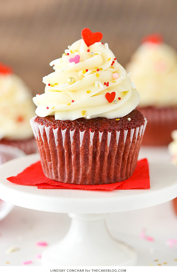 Red Velvet Cupcakes | Lindsay Conchar for TheCakeBlog.com