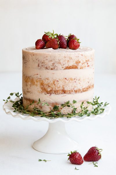 Strawberry Thyme Cake