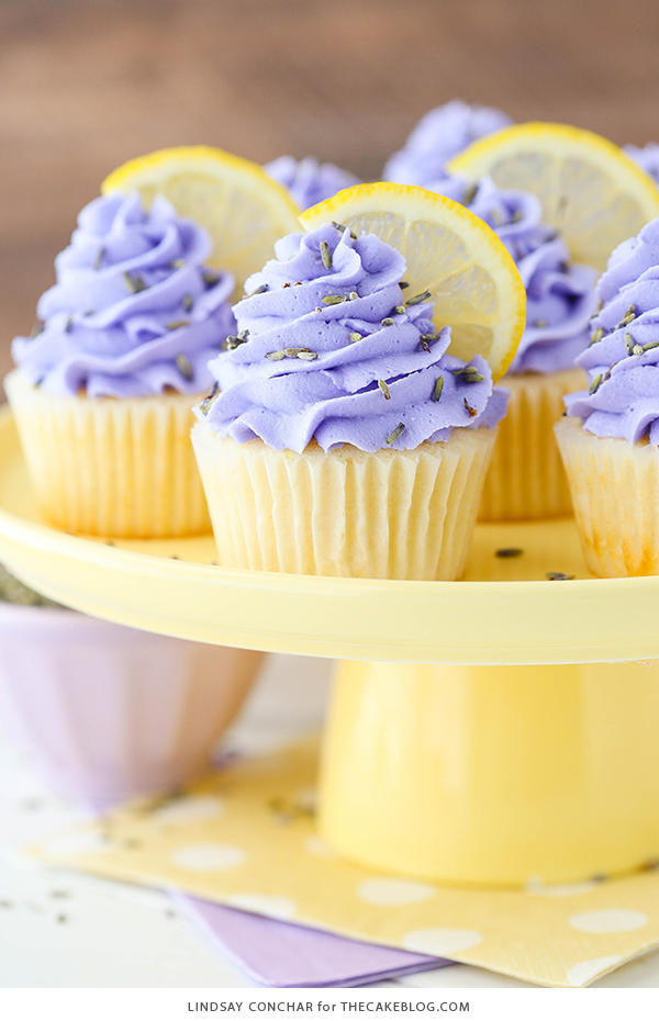 Best of 2018 - Lemon Lavender Cupcakes | Reader favorites on TheCakeBlog.com