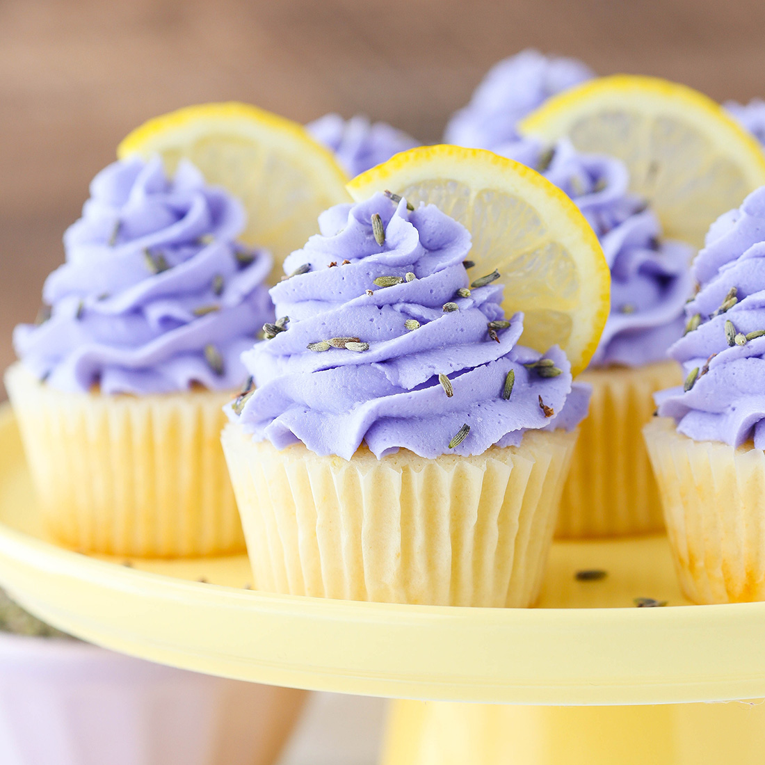 Lemon Lavender Cupcakes The Cake Blog