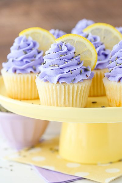 Lemon Lavender Cupcakes