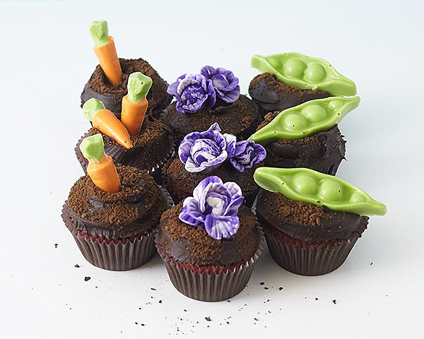 You Have Yourself Some Vegetable Garden Cupcakes