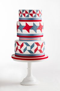 American Quilt Cake   by Allison Kelleher for TheCakeBlog.com