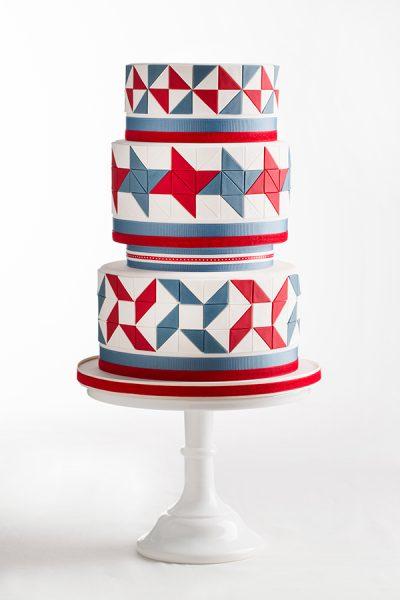 American Quilt Cake