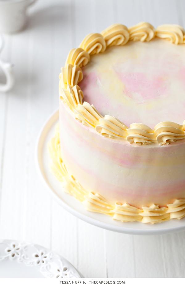 Lemon Honey Apricot Cake - lemon cake paired with honey buttercream and apricot jam   by Tessa Huff for TheCakeBlog.com