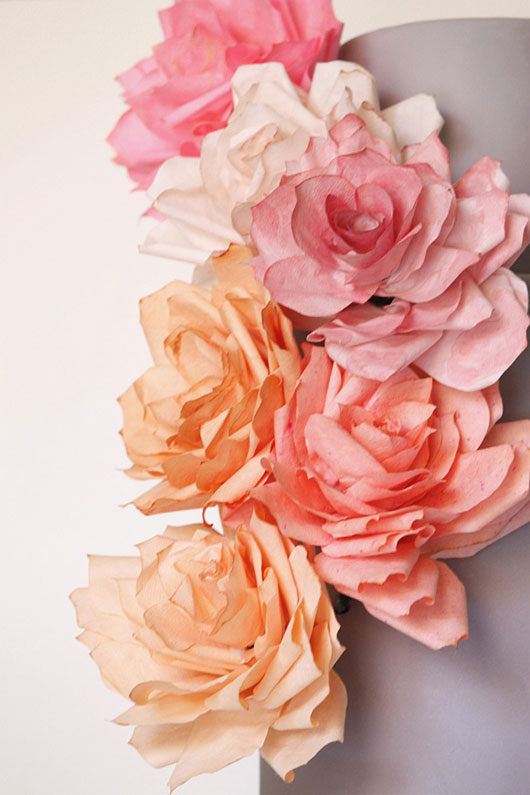 Paper Rose Cake | by Miso Bakes for TheCakeBlog.com