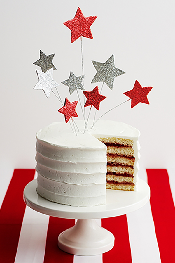 Stars and Stripes Cake | by Cakegirls for TheCakeBlog.com