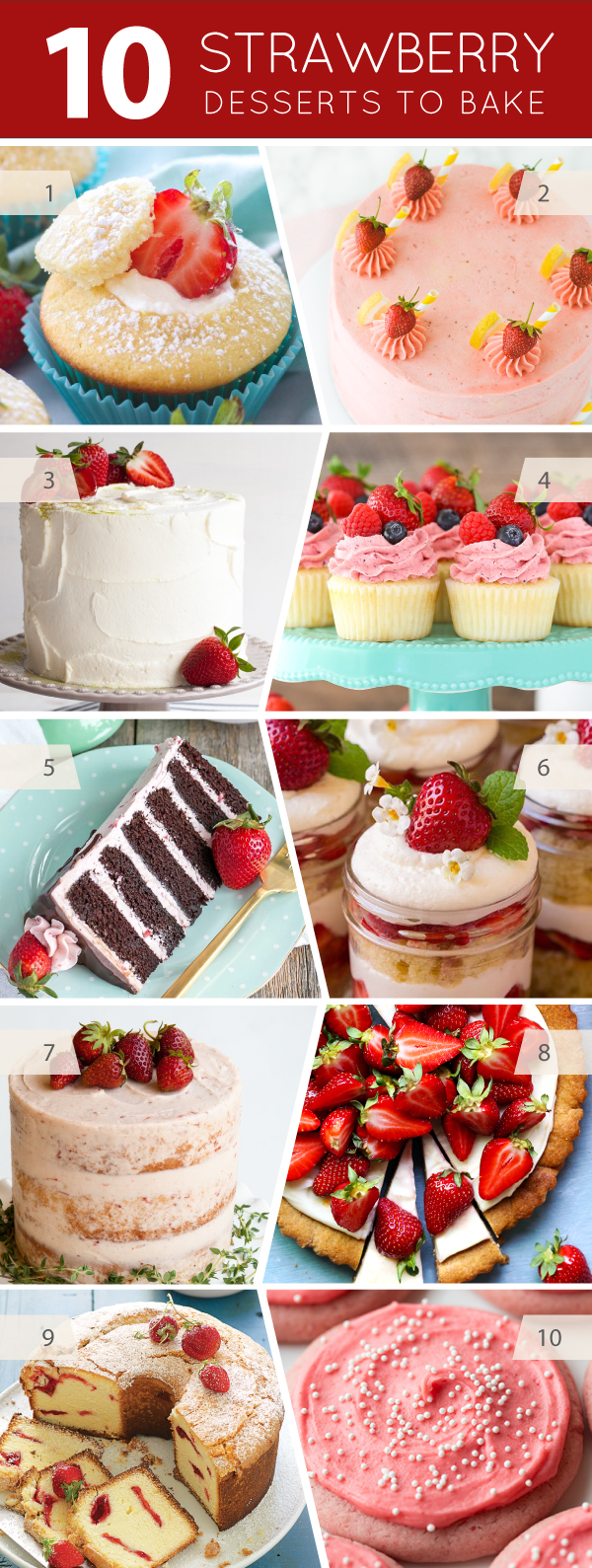 10 Strawberry Desserts to Bake this Summer | on TheCakeBlog.com
