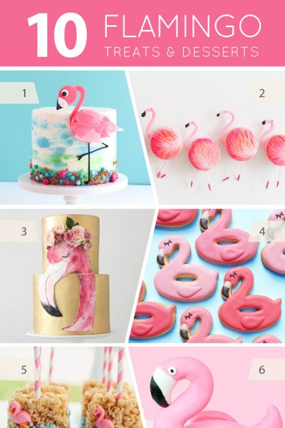 10 Fabulous Flamingo Treats - cakes, cupcakes, cookies and pops for flamingo lovers | on TheCakeBlog.com