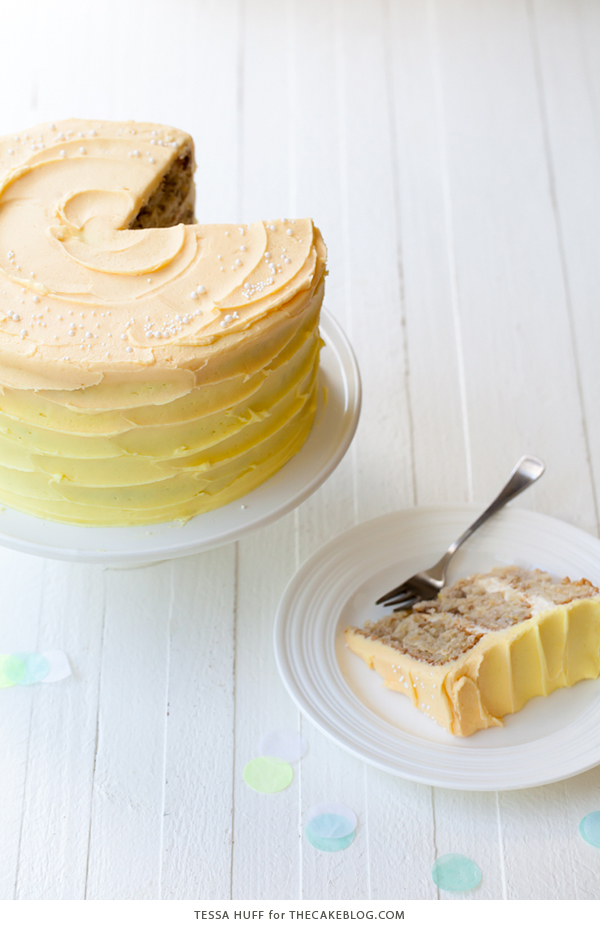Hummingbird Cake - a no fuss favorite with tropical flavors of pineapple, banana and pecans making it the perfect summer bake | by Tessa Huff for TheCakeBlog.com