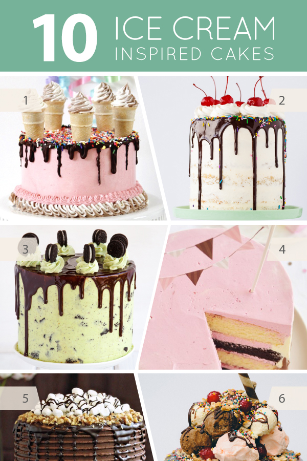 10 Ice Cream Inspired Cakes | on TheCakeBlog.com
