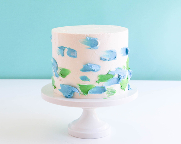 Watercolor Cake - how to make a watercolor buttercream cake | by Erin Gardner for TheCakeBlog.com