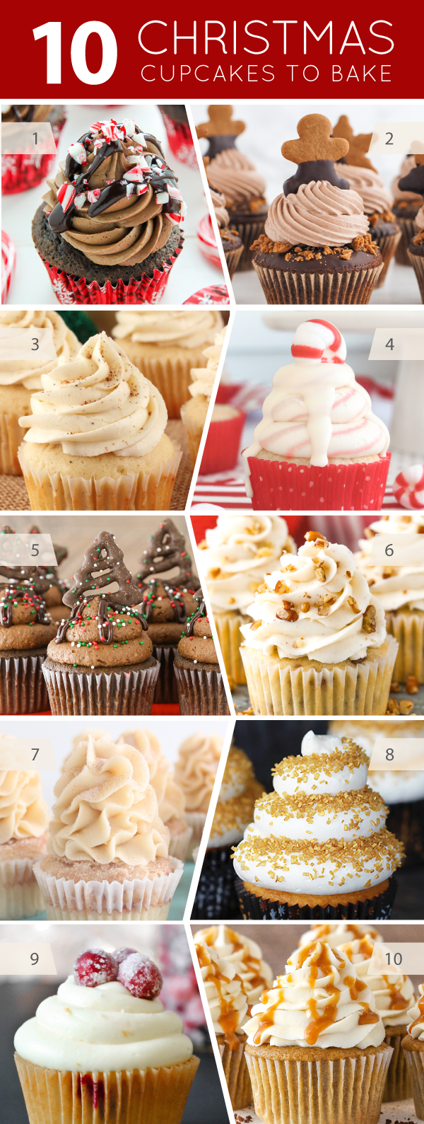 10 Christmas Cupcakes to Bake | on TheCakeBlog.com