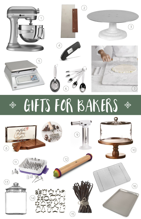 2017 Holiday Gift Guide for Bakers - twenty unique Christmas gift ideas for those who like to bake. Plus the baker who has everything!