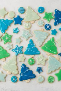 Decorated Sugar Cookies - vanilla bean sugar cookies with a simple glaze icing for easy yet thoughtful gift giving | by Carrie Sellman for TheCakeBlog.com