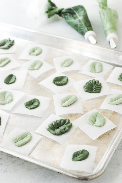 Winter Buttercream Greenery