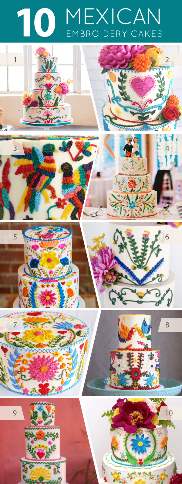 10 Mexican Embroidery Cakes   on TheCakeBlog.com