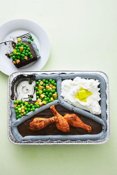 TV Dinner Sheet Cake