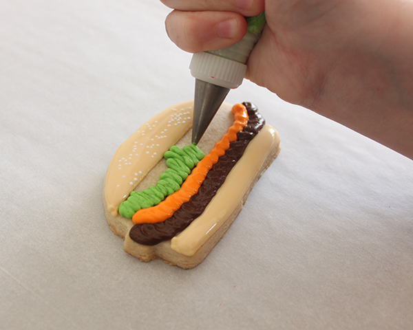 Hamburger Sugar Cookies | by ellenJAY for TheCakeBlog.com