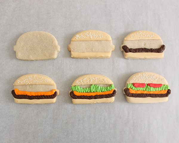 Hamburger Sugar Cookies   by ellenJAY for TheCakeBlog.com