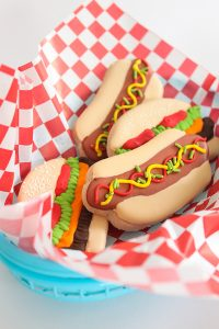 Hamburger & Hot Dog Sugar Cookies | by ellenJAY for TheCakeBlog.com