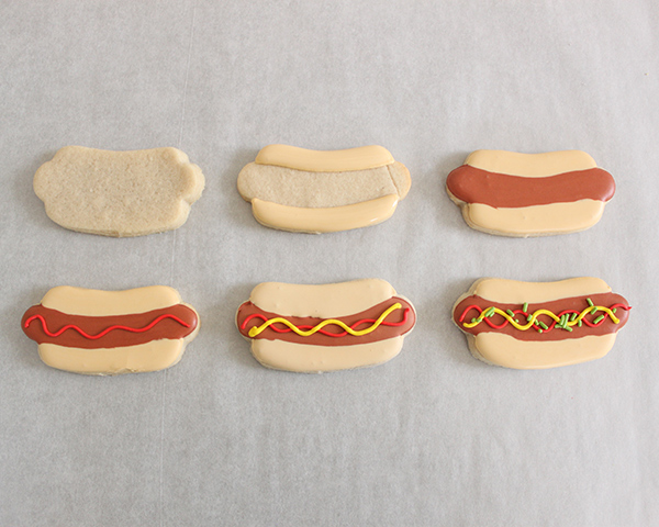 Hot Dog Sugar Cookies | by ellenJAY for TheCakeBlog.com