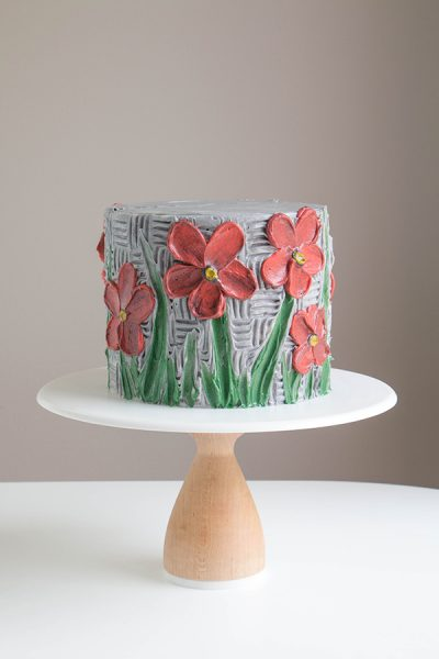 Buttercream Palette Knife Painted Cake