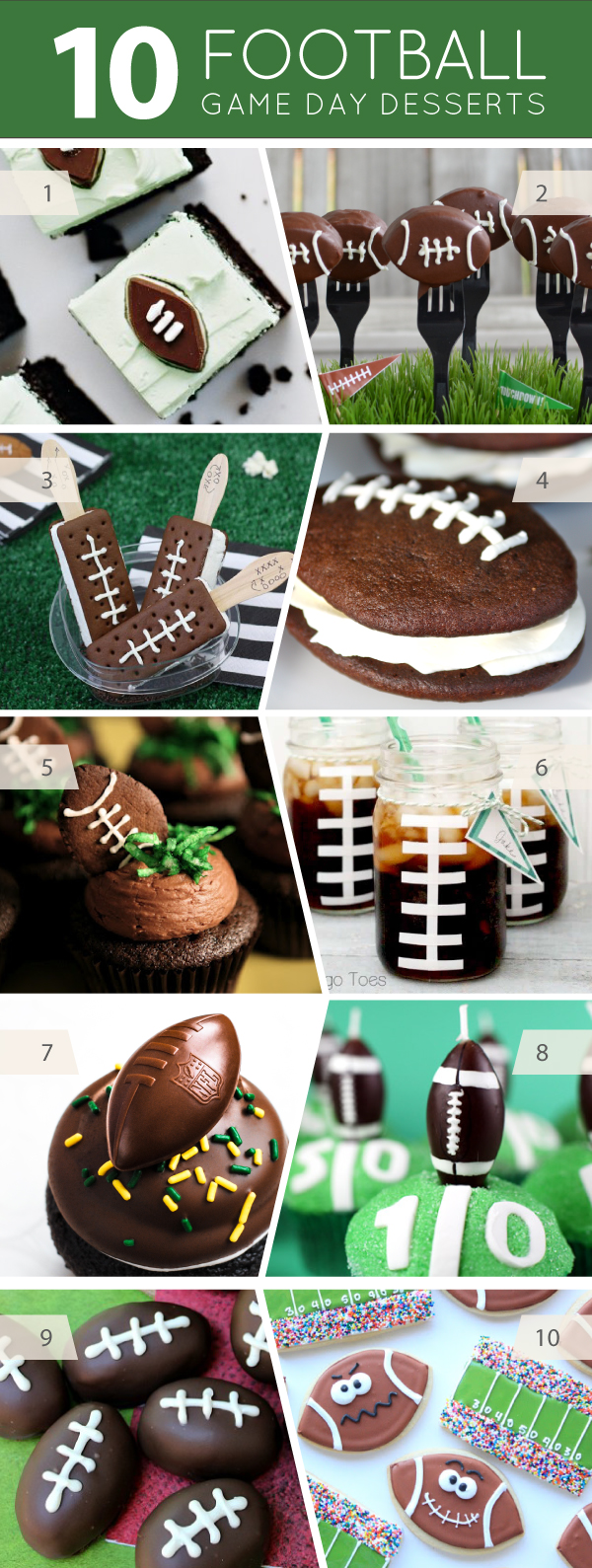 10 Football Party Desserts to make for game day tailgating | on TheCakeBlog.com