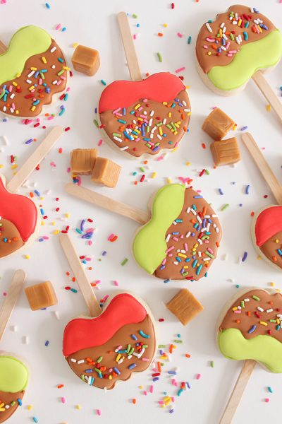 Caramel Apple Decorated Cookies