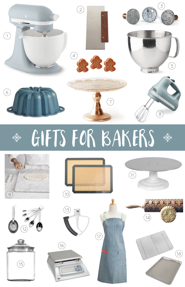 2018 Holiday Gift Guide for Bakers - twenty unique Christmas gift ideas for those who like to bake. Plus the baker who has everything!