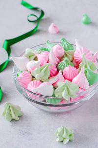 Meringue Kisses -melt in your mouth mini meringue cookies that are light as air, naturally low calorie, dairy free, gluten free and soy free | by Carrie Sellman for TheCakeBlog.com