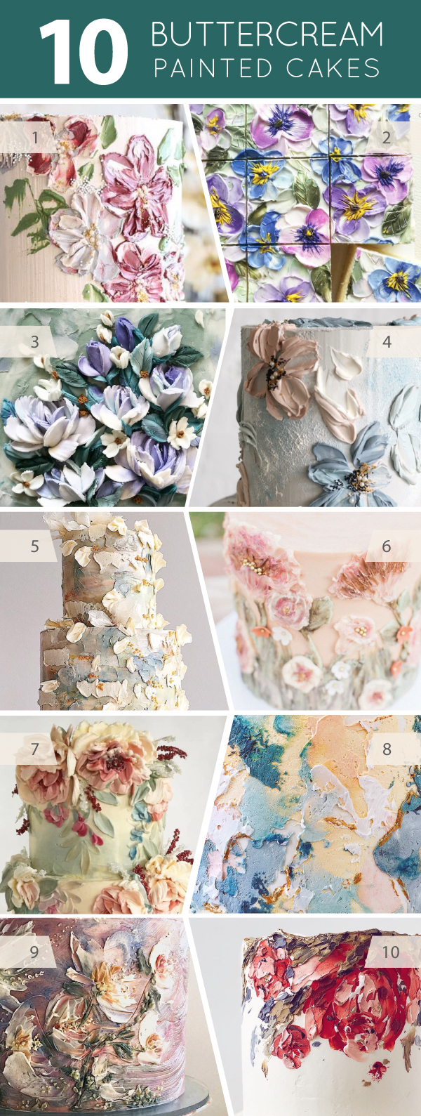 10 Buttercream Painted Cakes | on TheCakeBlog.com