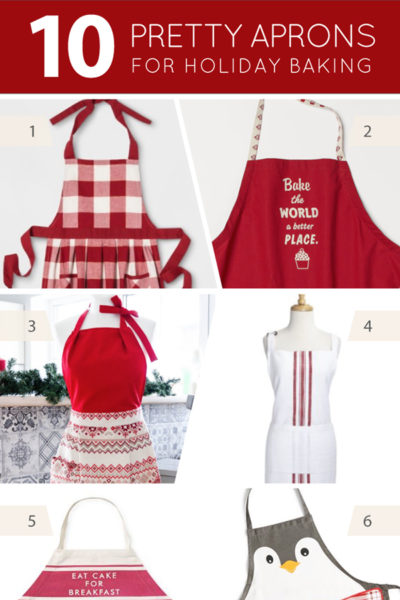 10 Christmas Aprons for holiday baking | on TheCakeBlog.com