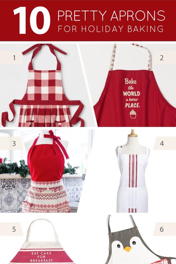 10 Pretty Christmas Aprons