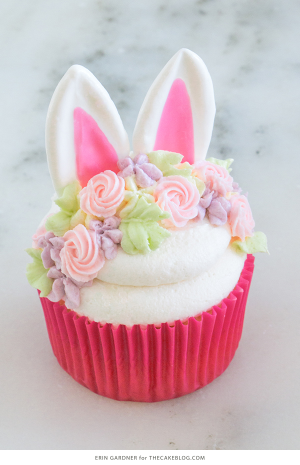 Easter Bunny Cupcakes | by Erin Gardner for TheCakeBlog.com