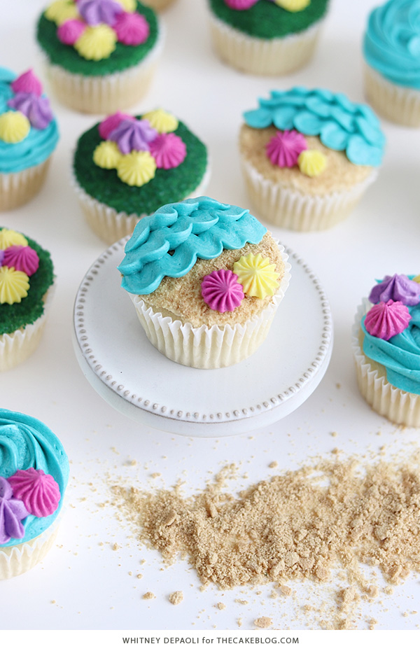 Beach Cupcakes | by Whitney DePaoli for TheCakeBlog.com