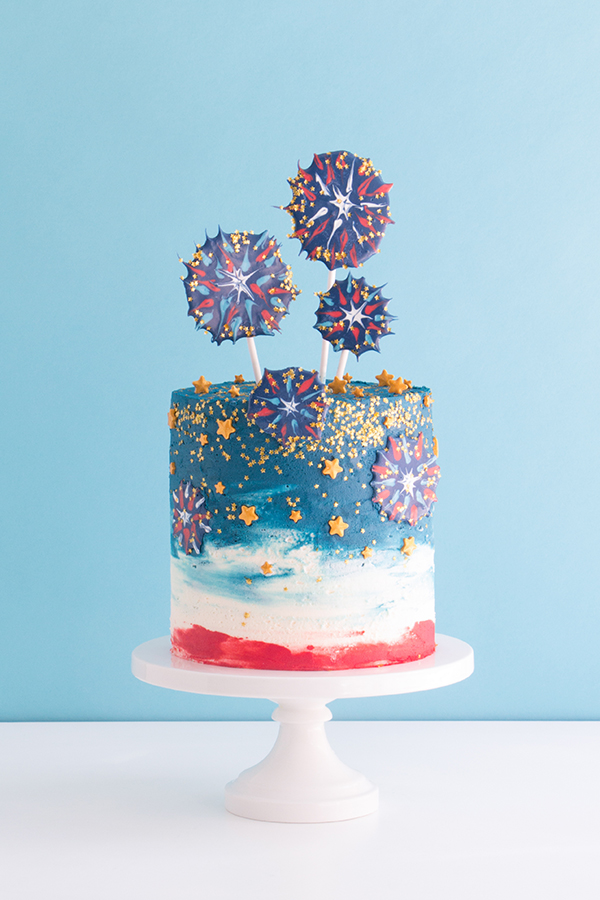 Chocolate Fireworks Cake | The Cake Blog